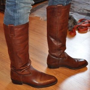 Frye Tall Riding Boots Dorado Low Whiskey 77070